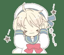 Rabbit ear boy Nicola sticker #10858313