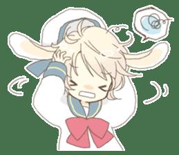 Rabbit ear boy Nicola sticker #10858314