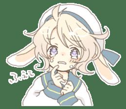 Rabbit ear boy Nicola sticker #10858316