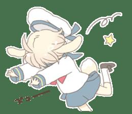 Rabbit ear boy Nicola sticker #10858318