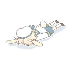 Rabbit ear boy Nicola sticker #10858319