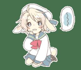Rabbit ear boy Nicola sticker #10858320