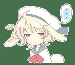 Rabbit ear boy Nicola sticker #10858321