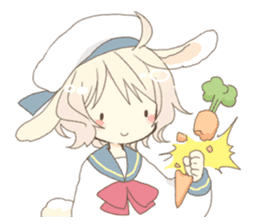 Rabbit ear boy Nicola sticker #10858323