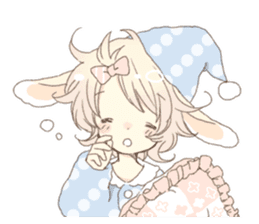 Rabbit ear boy Nicola sticker #10858326