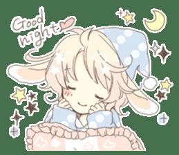 Rabbit ear boy Nicola sticker #10858327