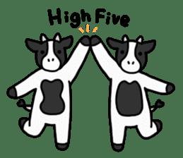 Cow Set 2 English. sticker #10859238