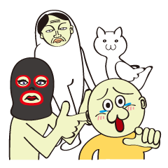 They are so funny characters. ©yoshiboo| elPortale | Sell LINE Sticker, Sell LINE Theme