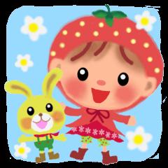 Strawberry little chiple 2016©megumin| elPortale | Sell LINE Sticker, Sell LINE Theme