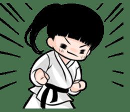 Karate life sticker #10874142