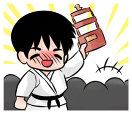 Karate life sticker #10874163