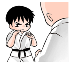 Karate life sticker #10874168