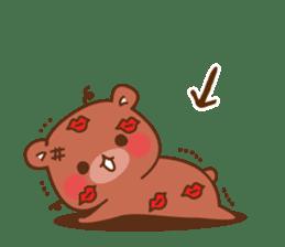 Vulgar bear For sweethearts sticker #10878527