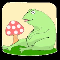 Good frog men. ©2015 kotetu23  elPortale   Sell LINE Sticker, Sell LINE Theme