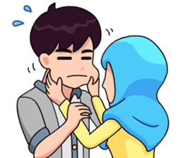 Couple Hijab sticker #10888723