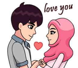 Couple Hijab sticker #10888725