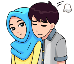 Couple Hijab sticker #10888740