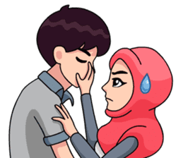 Couple Hijab sticker #10888748