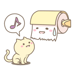 Toilet paper and the cat