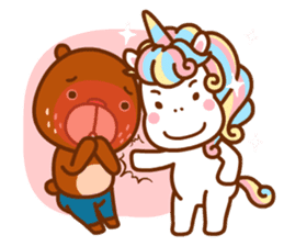 Uncle Bear & Unicorn sticker #10931301