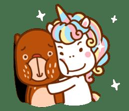 Uncle Bear & Unicorn sticker #10931302