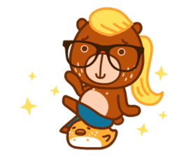 Uncle Bear & Unicorn sticker #10931303