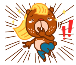 Uncle Bear & Unicorn sticker #10931309