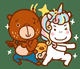 Uncle Bear & Unicorn sticker #10931310