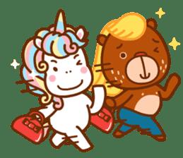 Uncle Bear & Unicorn sticker #10931313