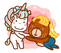 Uncle Bear & Unicorn sticker #10931322