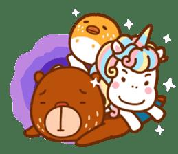 Uncle Bear & Unicorn sticker #10931329