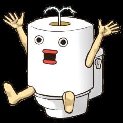 Toilet roll Sticker 3