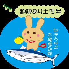土佐弁好きウサギ応援高知隊(翻訳あり)