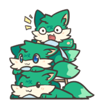 GreenFox nest sticker #10940575