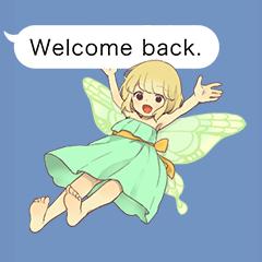 Fairy balloon Sticker EN