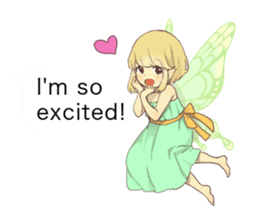 Fairy balloon Sticker EN sticker #10940745