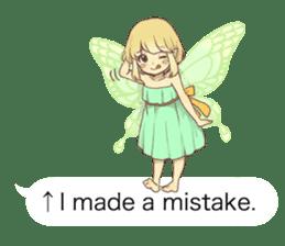 Fairy balloon Sticker EN sticker #10940762