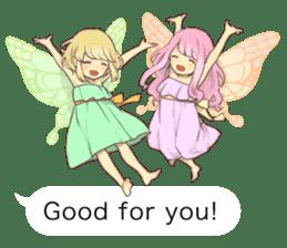 Fairy balloon Sticker EN sticker #10940766