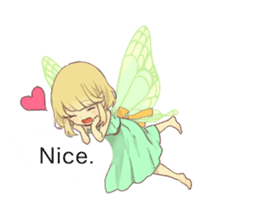 Fairy balloon Sticker EN sticker #10940767