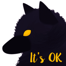 Darkie the wolf sticker #10959662