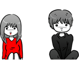 Manga couple in love 4 sticker #10974537
