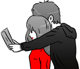 Manga couple in love 4 sticker #10974549