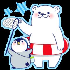 Penguin & Polar bear Summer vacation