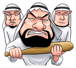 Handsome Uncle from Middle East sticker #10978208