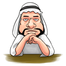 Handsome Uncle from Middle East sticker #10978216