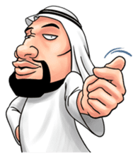 Handsome Uncle from Middle East sticker #10978219