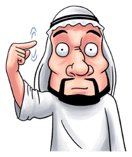 Handsome Uncle from Middle East sticker #10978222