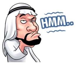 Handsome Uncle from Middle East sticker #10978224