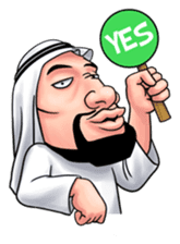 Handsome Uncle from Middle East sticker #10978228