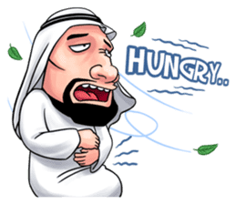 Handsome Uncle from Middle East sticker #10978234